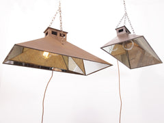 Mirrored Steel Factory Pendants