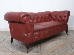 Leather Drop Arm Chesterfield