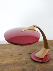 Red Fase Desk Light