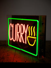 Neon Curry Shop Sign
