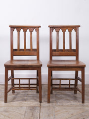 Two pairs of Chapel Chairs