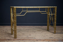 Faux Bambo Console Table