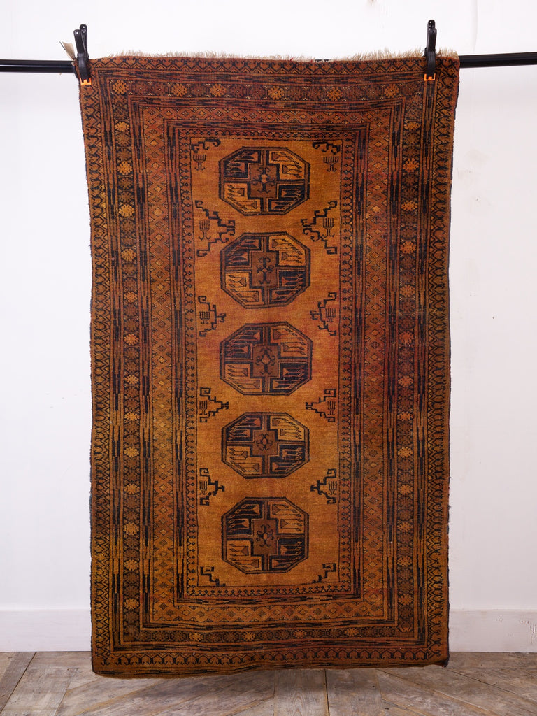 Orange and Black Rug