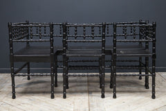Ebonised Corner Seats