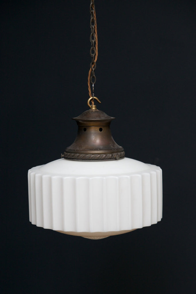 Reeded Opaline Pendant