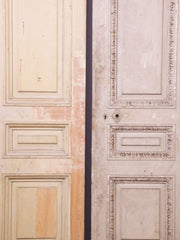Two six panel late Georgian Mahogany Doors