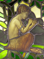 Stained Glass Triptych of Pan