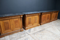 Pairs Of Oak Side Cabinets