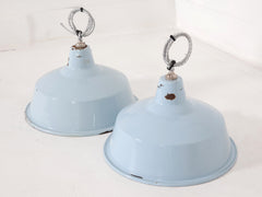 Baby Blue Industrial Pendants