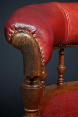 Red Leather Desk Chair
