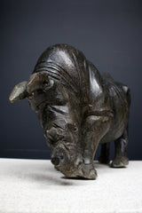 Carved Stone Rhino