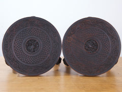 Carved Burmese Side Tables