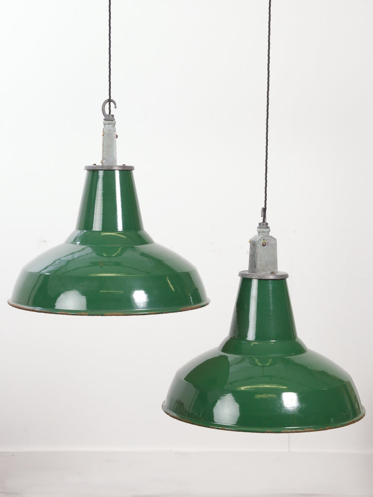 Green Industrial Pendants