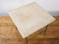 Marble and Bronze Side Table