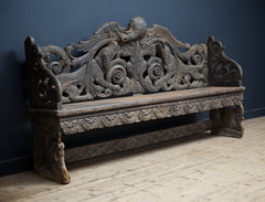 Carved Hunt Bench