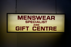 Menswear Sign
