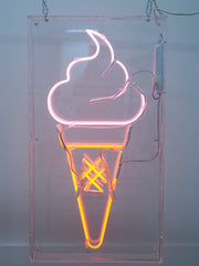 Neon Ice Cream Sign