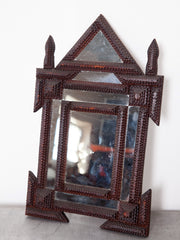 Tramp Art Wall Mirror