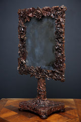 Leather Table Mirror
