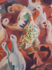 Geese on Canvas