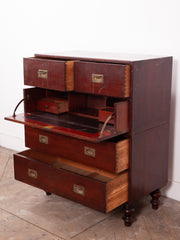Campaign Chest with Secretaire
