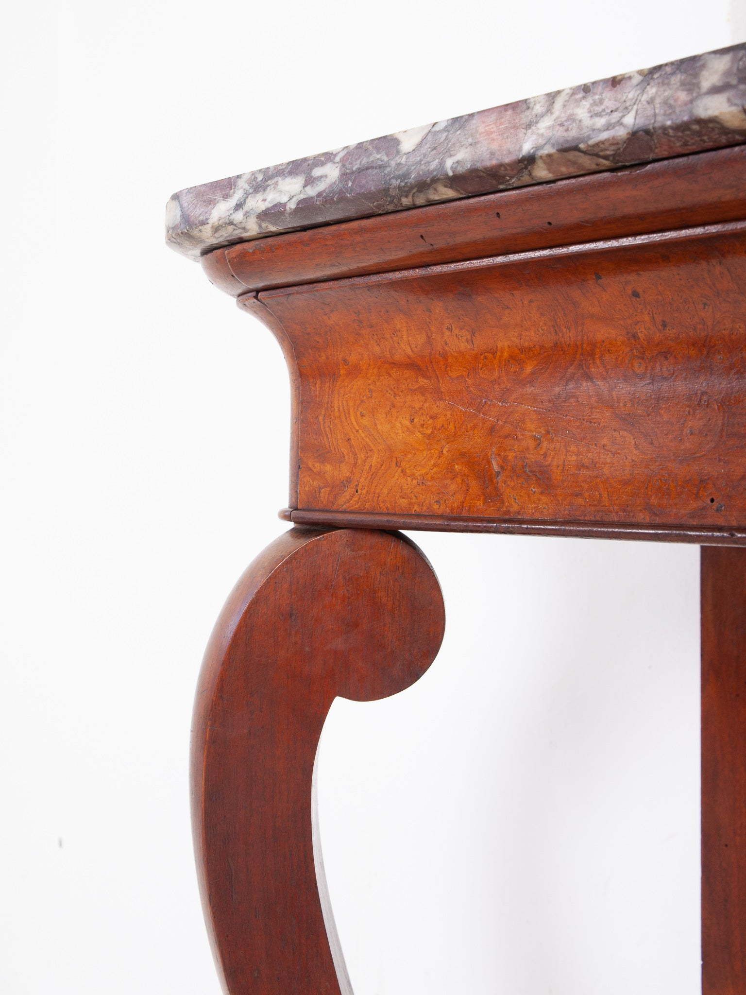 Burr Ash Console Table