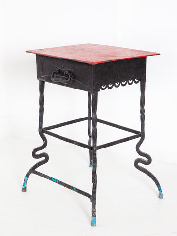 Wrought Iron Side Table