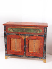 Folk Art Painted Cabinet