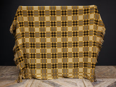 Gold & Black Welsh Blanket