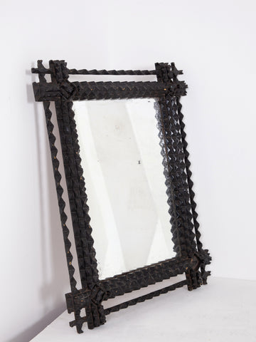 Tramp Art Mirror