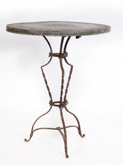 Zinc Top Bistro Table