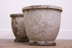 Carved Sand Stone Urns