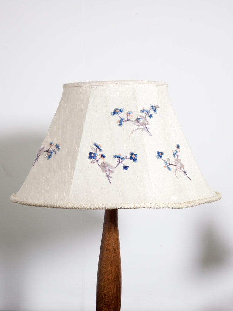 A Silk Embrodered Lampshade