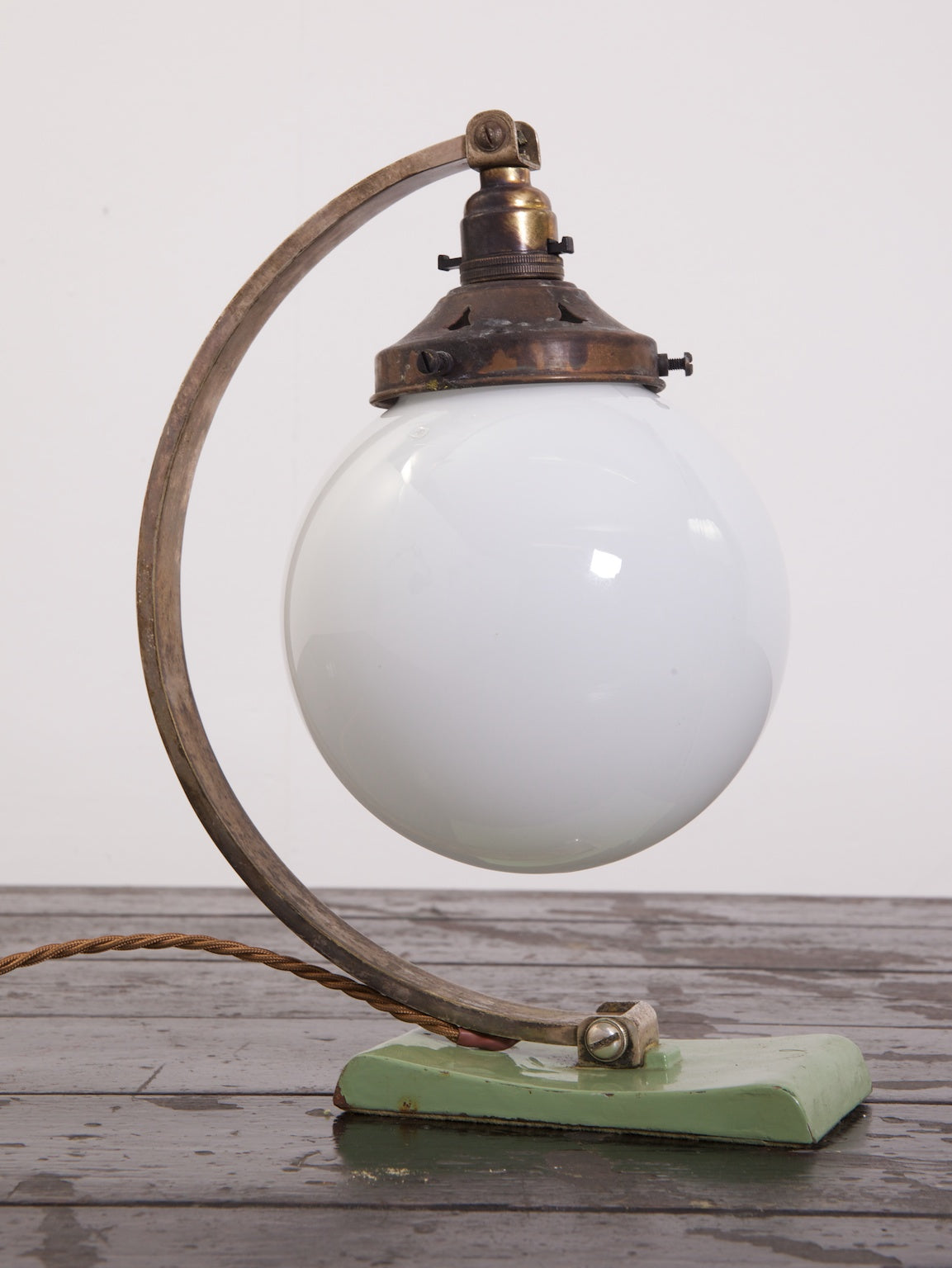 Opaline Globe Table Lamp
