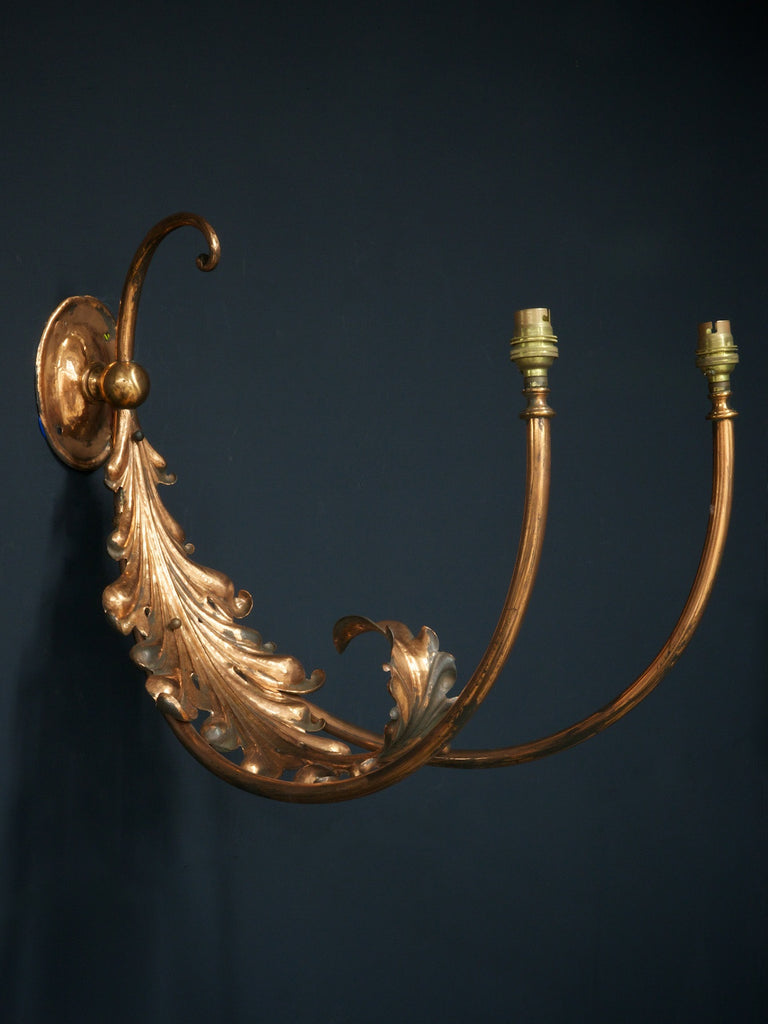 Single Copper Wall Light