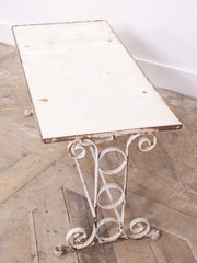 Wrought Iron Garden Table