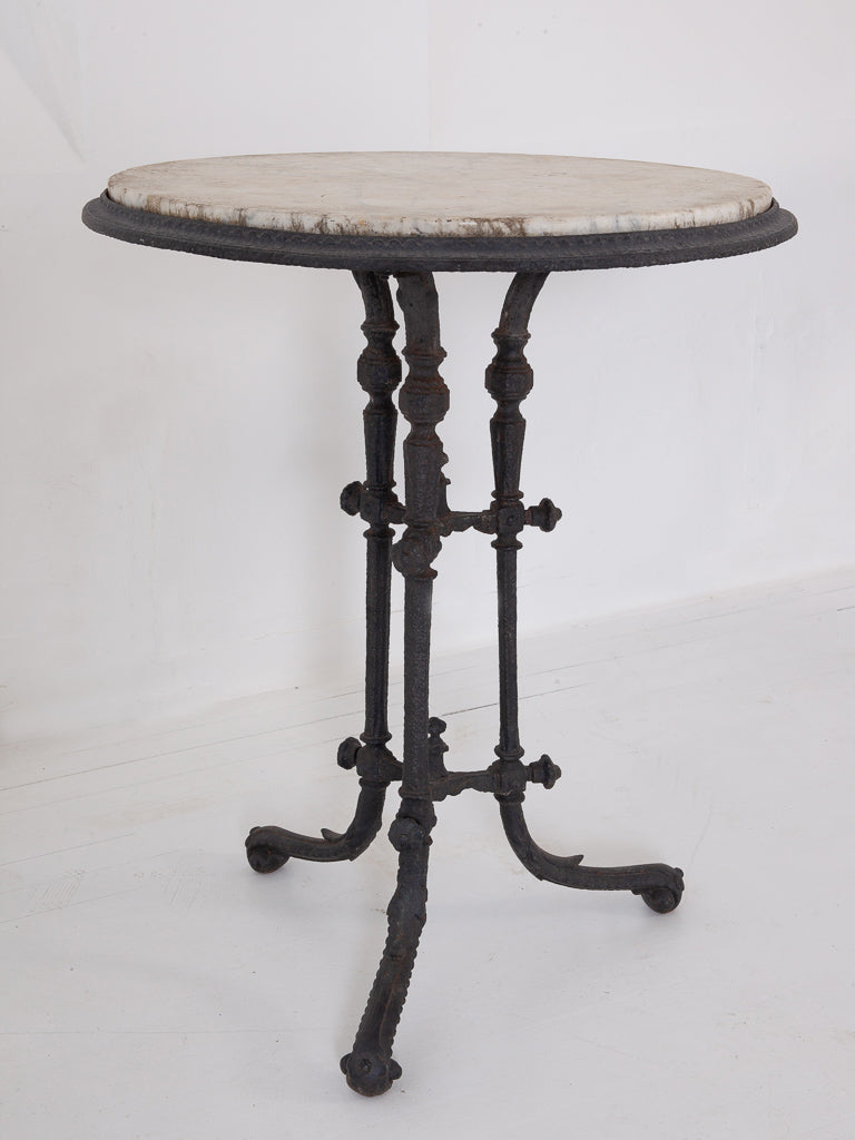 Small Marble Top Cafe Table