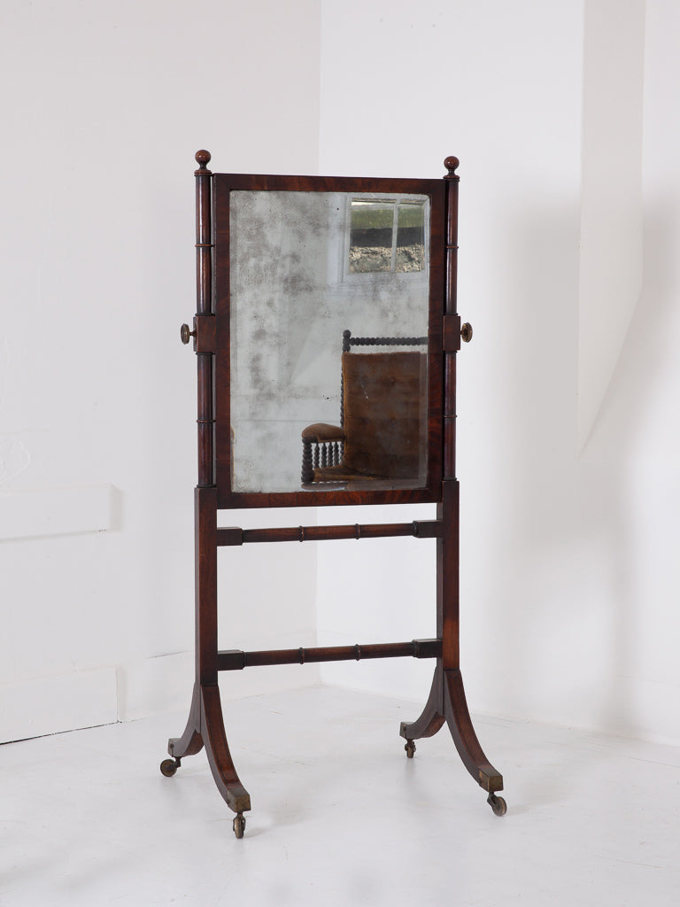 Regency Cheval Mirror