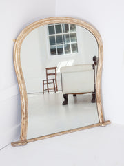 Waisted Overmantle Mirror