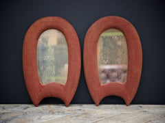 Pair of Velvet Mirrors