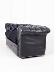 Black Leather Chesterfield