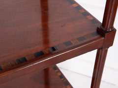 Inlaid Mahogany Whatnot