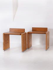 A Pair of Burr and Maple Night Stands