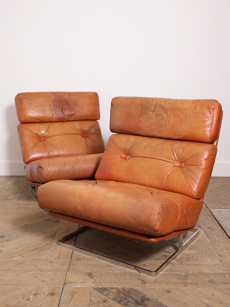 Large Leather Loungers