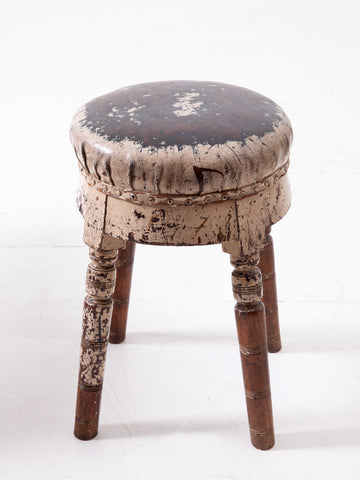 Paint Covered Stool