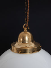 Large Globe Opaline Pendant Lights