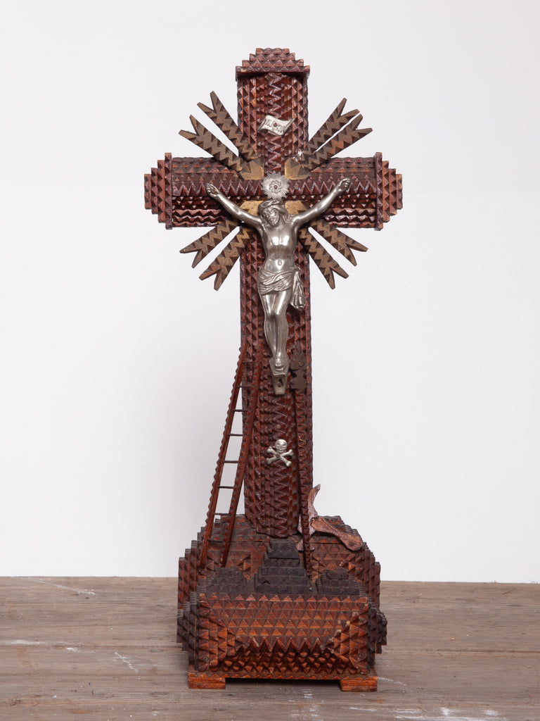 Tramp Art Crucifix