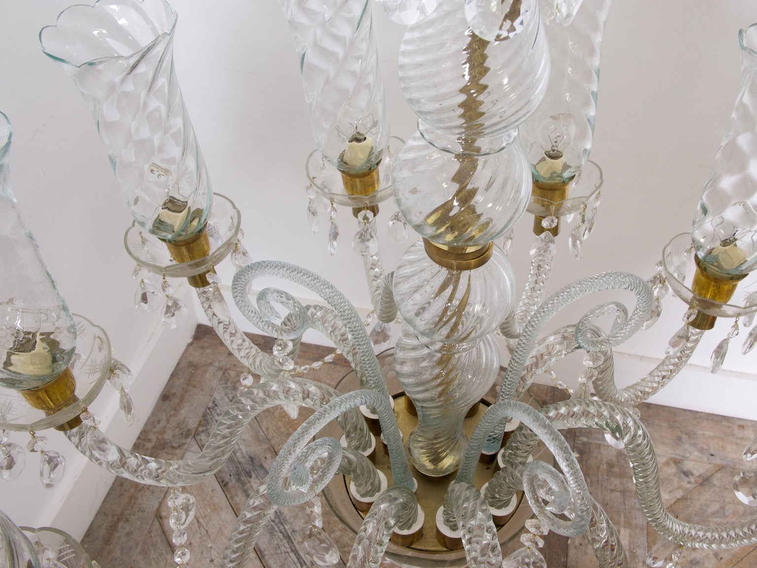 A pair of murano chandeliers drew pritchard ltd a pair of murano chandeliers aloadofball Gallery