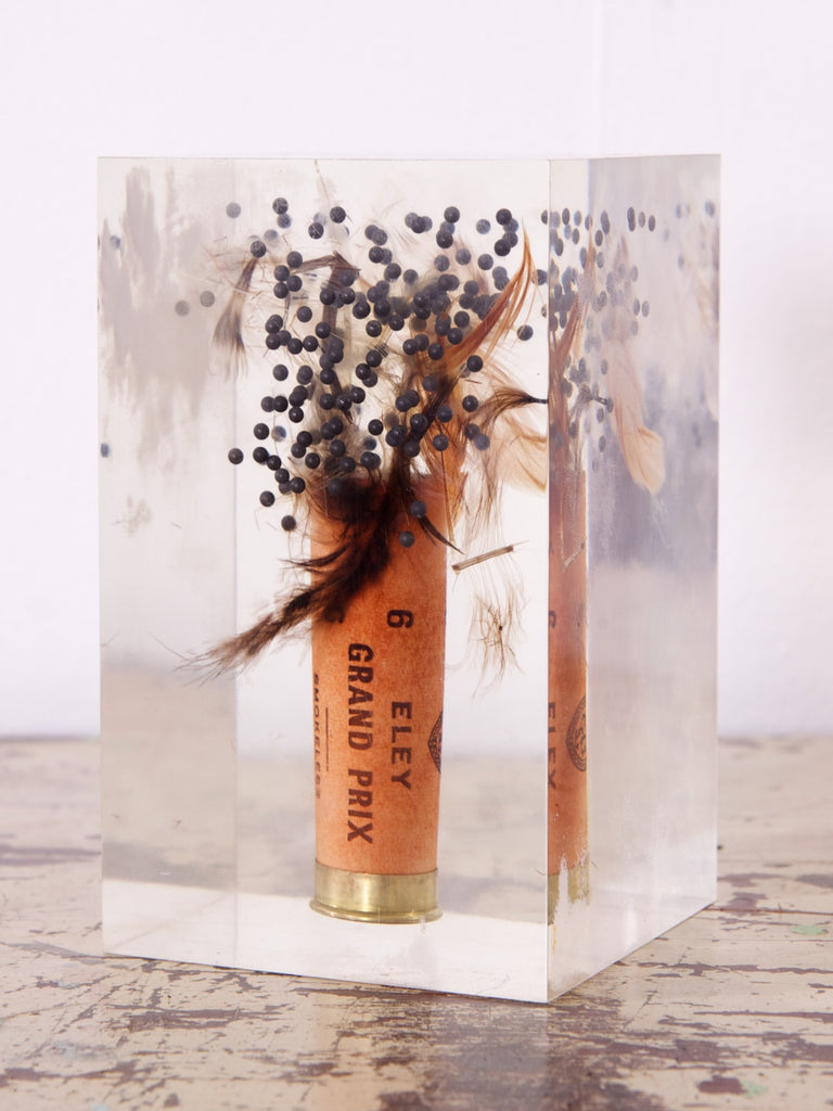 Shotgun Cartridge in Lucite