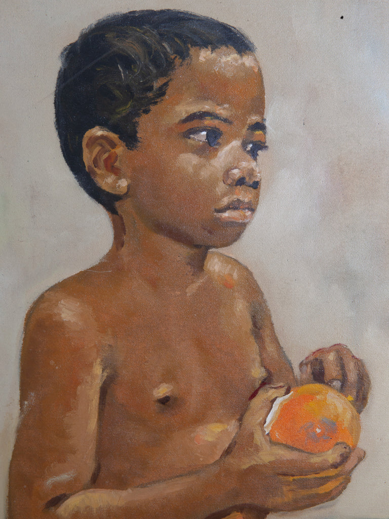 Boy With Orange